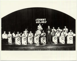 The Johnny Holmes Band on stage at Victoria Hall