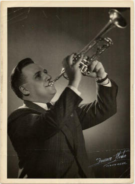 Johnny Holmes with his king trumpet