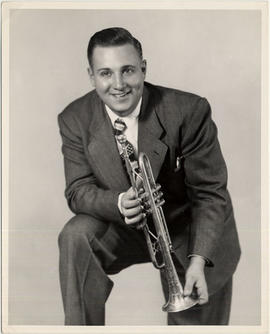 Johnny Holmes with trumpet