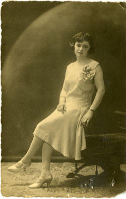 Unidentified Woman Sitting Down