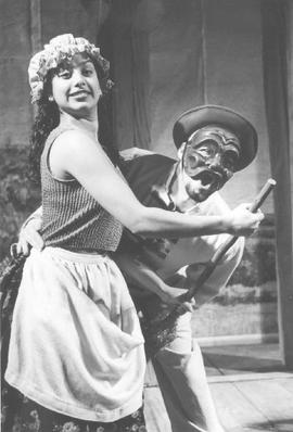 Glenda Braganza and Jean Tartière from the show The Frickle Woman
