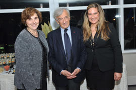 Judith Woodsworth, Elie Wiesel and an unidentified person