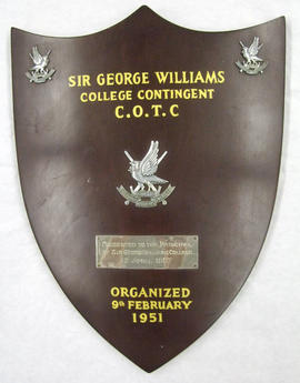 Sir George Williams College Contingent Canadian Officers Training Corps (C.O.T.C.) Award
