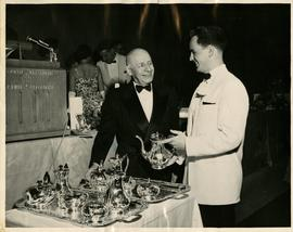 Presentation of Silver Tea Set to Hall by the Class of 1958