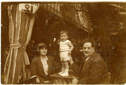 Unidentified Man and Woman with a Young Kid