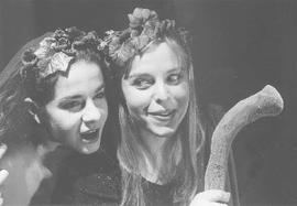 Hala Taher and Penny Charbonneau in the show The Bacchae
