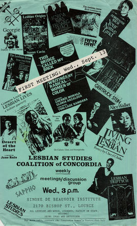 Lesbian Studies Coalition of Concordia Meetings