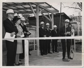 Ground Breaking Ceremony of the Henry F. Hall Building