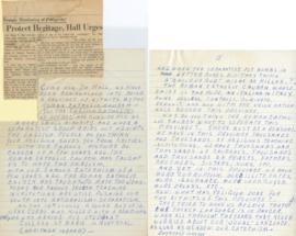 Anonymous Letter in Response to Henry F. Hall's October 29 Montreal Star Article 'Protect Heritag...