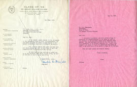 Letter from Demetrius N. Manolakos, President of the Class of '56 of Sir George Williams, and Hen...