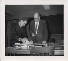 Clifford C. Sparling and student