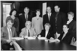 Frederick Lowy et al. at the signing of the Concordia University Professional Employees Union (CU...