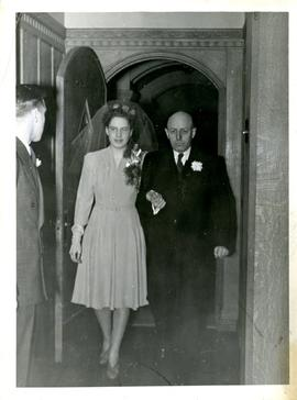 Henry F. Hall and Anna Hall on Their Wedding Day