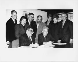 Frederick Lowy et al. at Concordia University Faculty Association (CUFA) contract signing