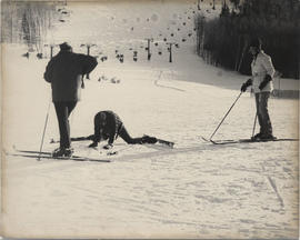 Unidentified Students Skiing