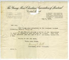Letter from Henry F. Hall to an Unknown Recipient