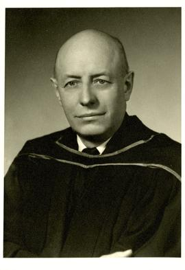 Portrait of Henry F. Hall in Academic Dress