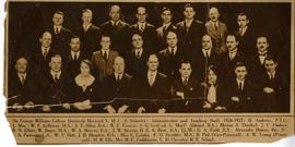 Sir George Williams College Administrative and Teaching Staff Press Clipping Photograph