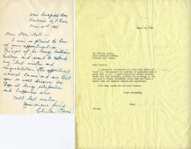 Letter from Clinton Davis and Henry F. Hall's Reply