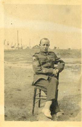 Henry F. Hall Seated in Uniform