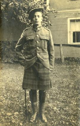Henry F. Hall in his 42nd Battalion, Royal Highlanders of Canada Kilt and Tam O'shanter