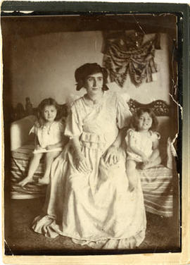 Unidentified Woman with Two Young Kids