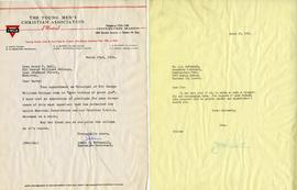 Letter from James A. McConnell, Executive Secretary of the YMCA of Montreal, and Henry F. Hall's ...