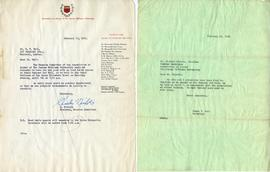 Letter from Charles Nichols, Chairman of the Reunion Committee of the Association of Alumni of Si...
