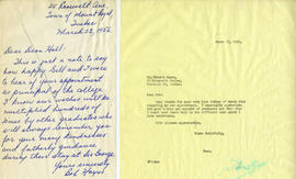 Letter from Bob Hayes and Henry F. Hall's Reply