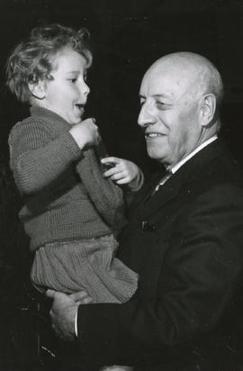 Henry F. Hall Holding his Grand-Daughter Lynda
