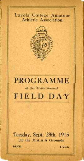 Programme of the Tenth Annual Field Day