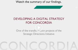 Developing a Digital Strategy for Concordia