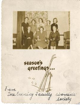 Christmas Card from the Evening Faculty Women's Society