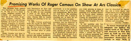 Promising Works of Roger Camous On Show At Ars Classica