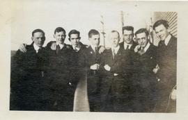Henry F. Hall and a Group of Young Men