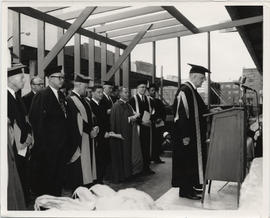 Laying of the Cornerstone of the Henry F. Hall Building