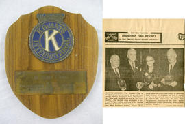 Kiwanis Club of St. George Montreal Community Service Award and Press Clipping
