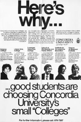"Here's why good students are choosing Concordia University's small ""Colleges"""