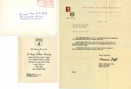 Invitation to the Sir George Williams University Class of 1961 Graduation Banquet and Ball