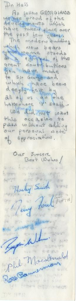Note Signed by Five Students