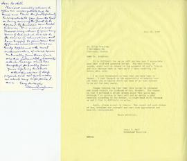 Letter from Allan Bronfman and Henry F. Hall's Reply