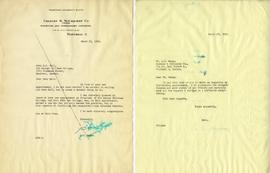Letter from A.V. Madge and Henry F. Hall's Reply