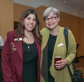 A Garnet Key student and Lisa Ostiguy
