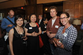 An unidentified person, Ying Li, Edouard Rotondo and Sarah Sniderman