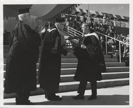 A student receives his degree