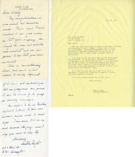 Letter from Austin Wright and Henry F. Hall's Reply