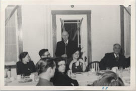 Dean Henry F. Hall at the Microphone