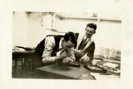 Two Students Working in a Science Lab