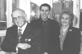 Abe Gold, Christian DesRoches and Harriet Gold