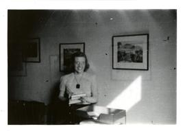 Candid of a Young Woman in an Office